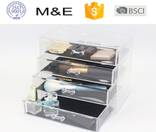 M&E 2018 new product 4 lays 4 drawers acrylic makeup organizer jewelry display case