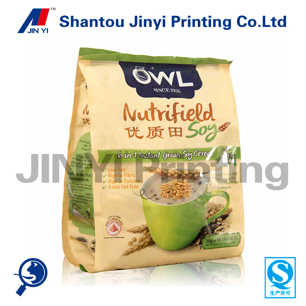 gravure printing high quality oatmeal fast food packaging design material