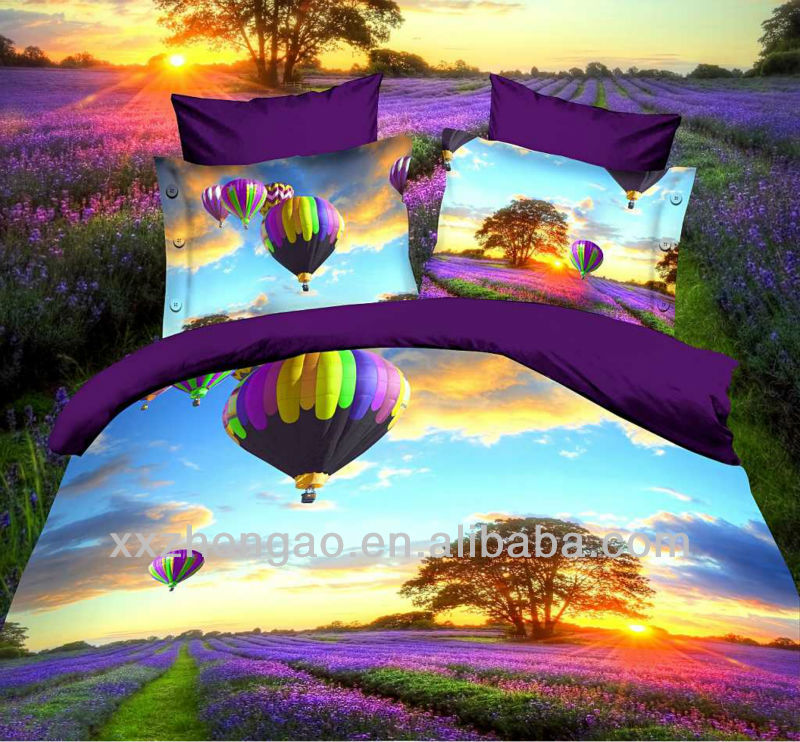 100%Polyester 3D Pannel printing Microfiber bed sheet set, duvet cover set, comforter set