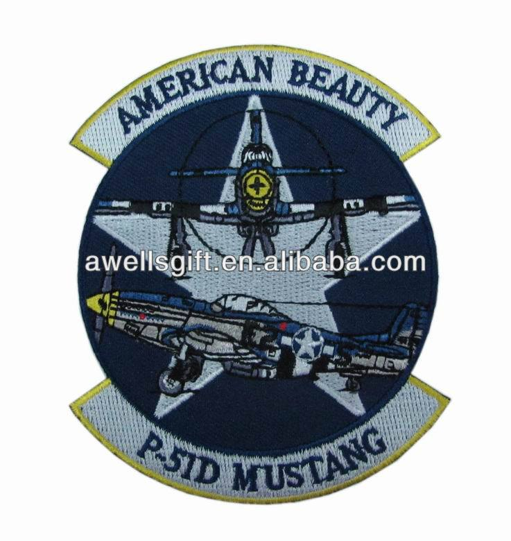 Air Force P-51 MUSTANG embroidered hat shoulder Patch