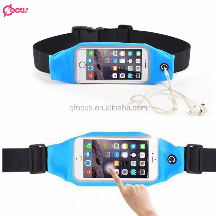 With Belt Zipper Mobile Phone Cases Waterproof Bag Sport Gym Waist Pouch For iPhone 6 Case For iPhone 6S Plus