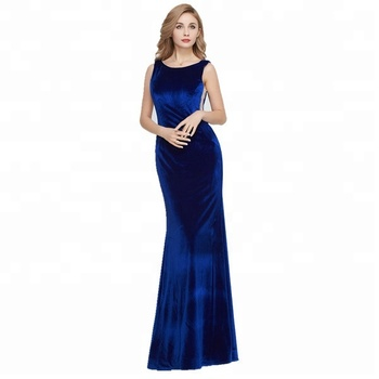 2019 all color tea length  New long  Evening Formal Party  Prom Gown wedding party  Mermaid Velvet Bridesmaid Dress
