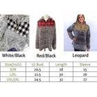 Women Hot Sale Personalized Zip Neck Fleece Sweatshirt Buffalo Check Sherpa Pullover