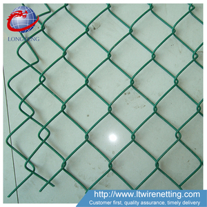 Free Sample! Anping factory low price 9 gauge pvc coated used decorative chain link fence for sale