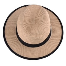 Plain Dyed Pattern and Ribbon & Rope Accessory Type cheap wholesale paper ladies straw hats