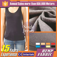 High quality fashion hemp organic fabric clothing decoration
