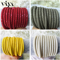 Red Grey White Yellow Leather Stingray Material for DIY Bracelet Genuine Real Cord Sting Ray Leather