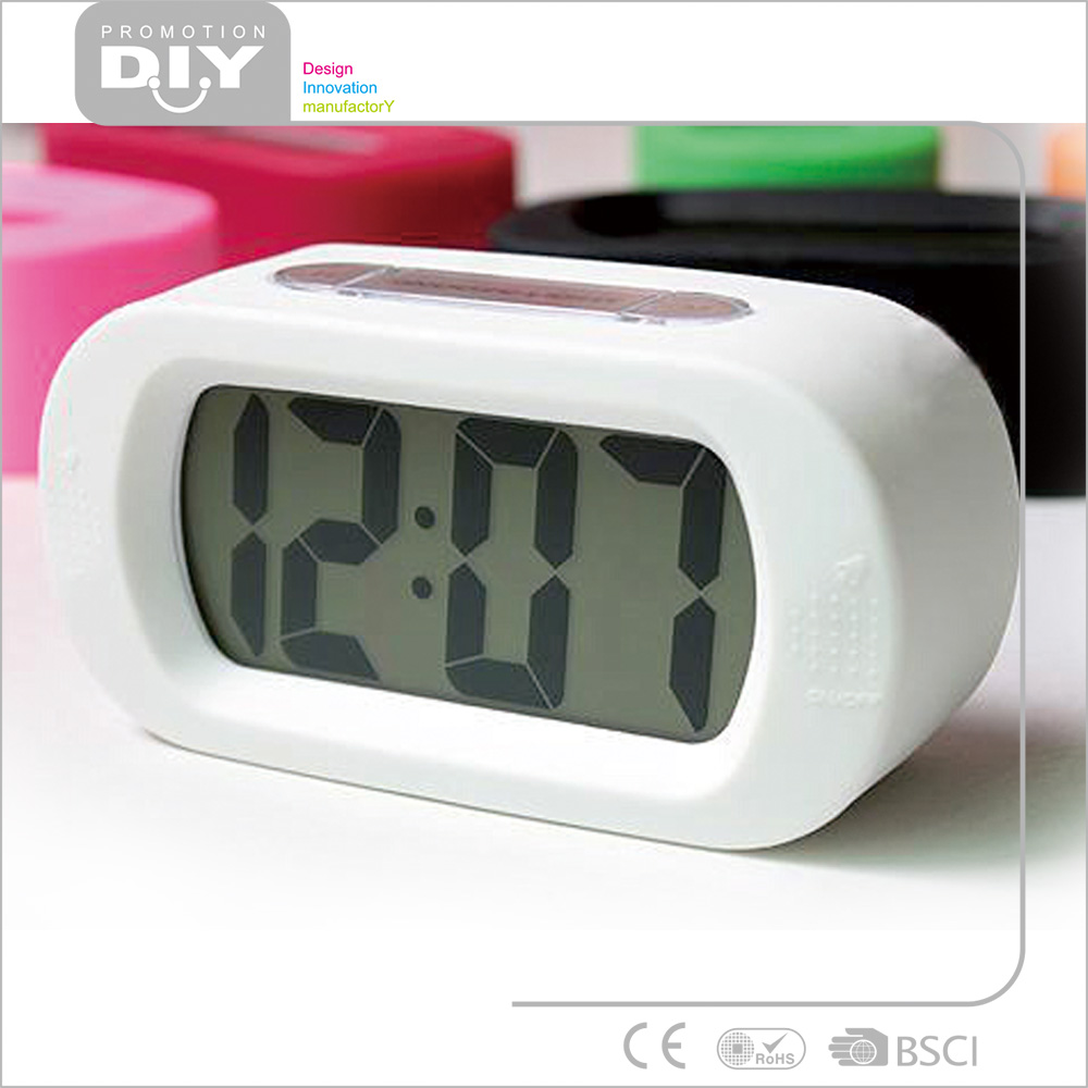 kids Big display Silicone desktop time digital table alarm clock