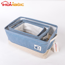 Eco-Friendly Smart Household Desk Organizer Basket Cotton Linen Storage Bin