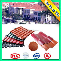 Fireproof Pvc Spanish Roof Tiles With Uv Protect/Asa Synthetic Resin Roof Sheet