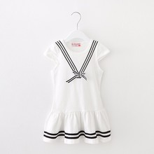 Cherry Sweet Talk Kid's Summer Stylish Baby <strong>Girl</strong> Bow Knot Navy <strong>Dress</strong>