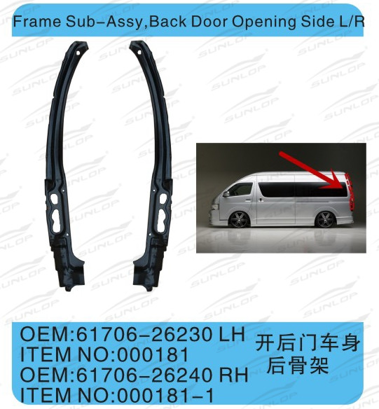 For Hiace Auto Parts Frame Sub-assy Back Door Opening Side L/r - Buy ...