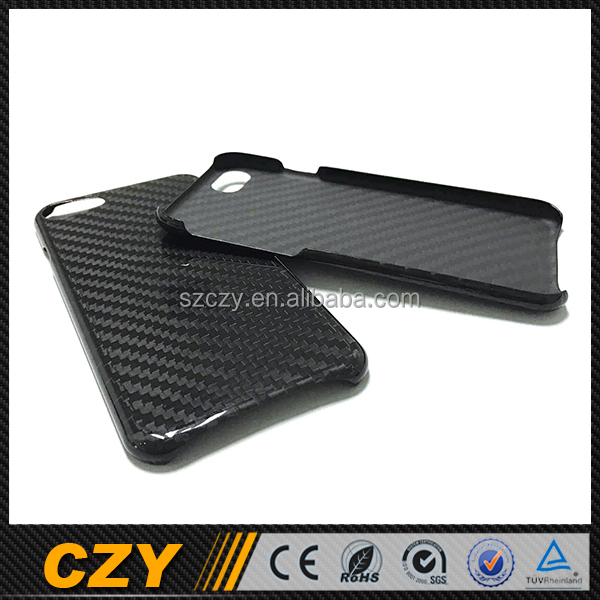Customized Glossy Carbon Cover Case for Iphone 7