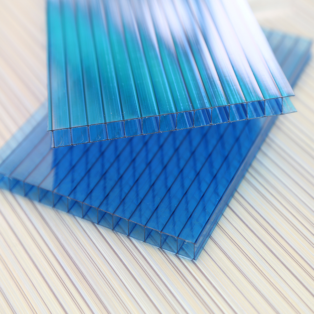 1.2mm clear opal milk white lake blue corrugated plastic roofing sheets for sound barriers