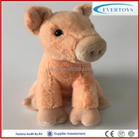 2015 new dasign lovely plush stuffy toy pig