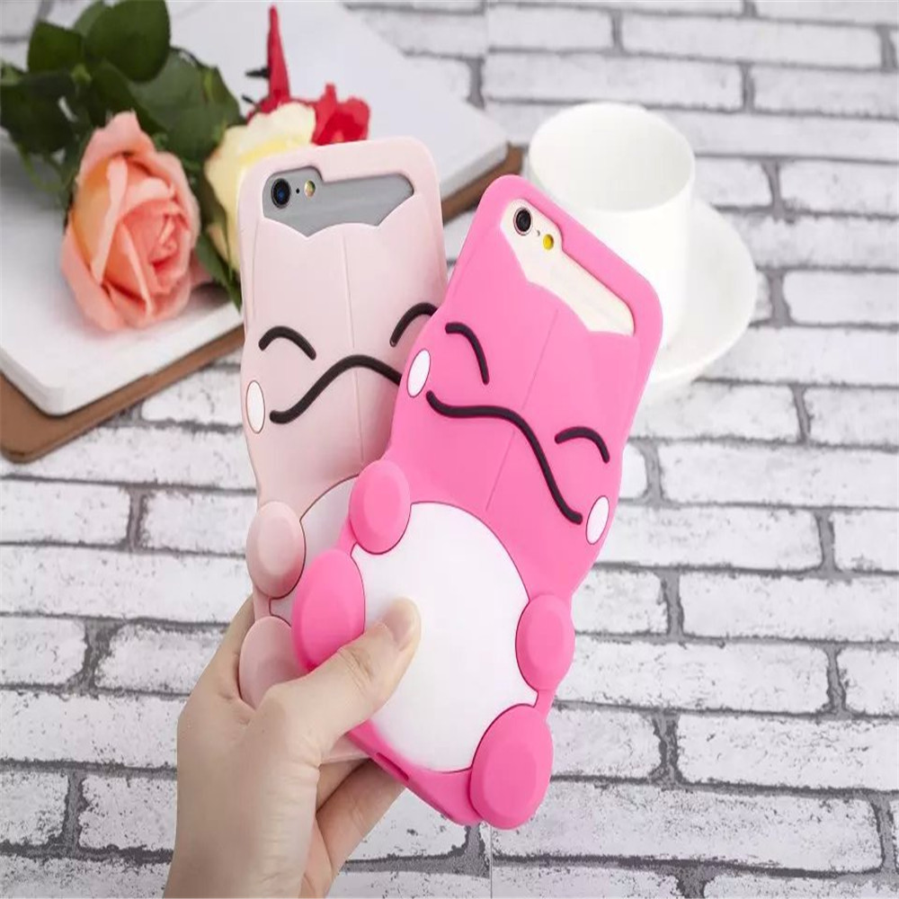 2016 trending products 3D cartoon silicone case for Apple iPhone 5 6 6plus 7 7plus