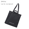 Personalised Plain Black Canvas Tote Shopping Bags