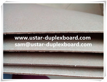 grey paperboard, brown board for paper notebook, 2mm caliper board