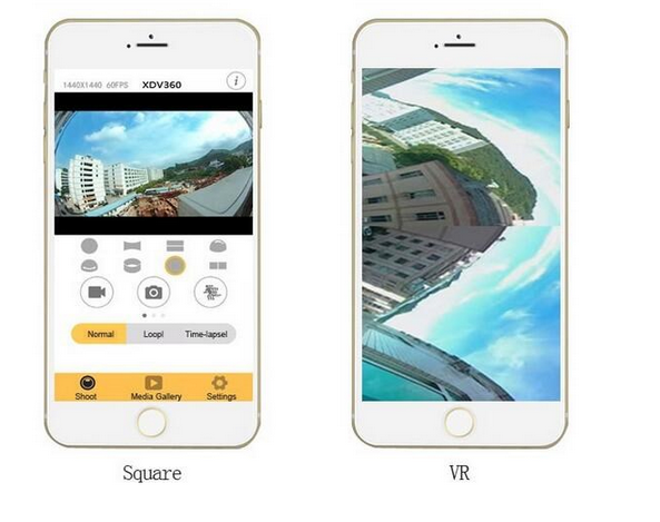 2017 Wholesale Price 1080P HD 360 Degree V1 Camera Video WIFi Wireless Action 360 panoramic dv vr camera