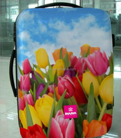 flower printing abs+pc trolley luggage set