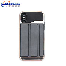 Card slot tpu pc pu phone flip case cover for iphone X,card slot holder leather with stand 3in1 for iphone X case