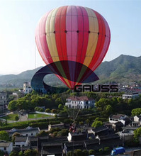 2 passengers inflatable helium tethered balloon for advertising performance and sightseeing
