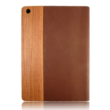 Rosewood leather cell phone case genuine wood covers wholesale custom back cover for iPad5