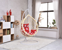 Park/Bedroom Hammock cheap egg pod chair with Iron Steel Stand Base Double Seats