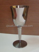 23g personalized sublimation wine glass , new fashion colored stem wine glass in low price