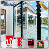 Australia AS2047 standard commercial system adjustable cheap price louvre window