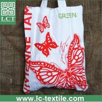 wholesale re-usable 100% cotton magazine bag with fashional custom imprint(LCTB0036)