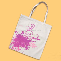 Decorative trendy cotton beach bag with rope handle , cotton dust bag for handbag
