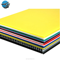 Extruded full color pp raw lmpraboard akylux danpla twin wall corfluted correx coroplast hollow suitcase liner corrugated sheet
