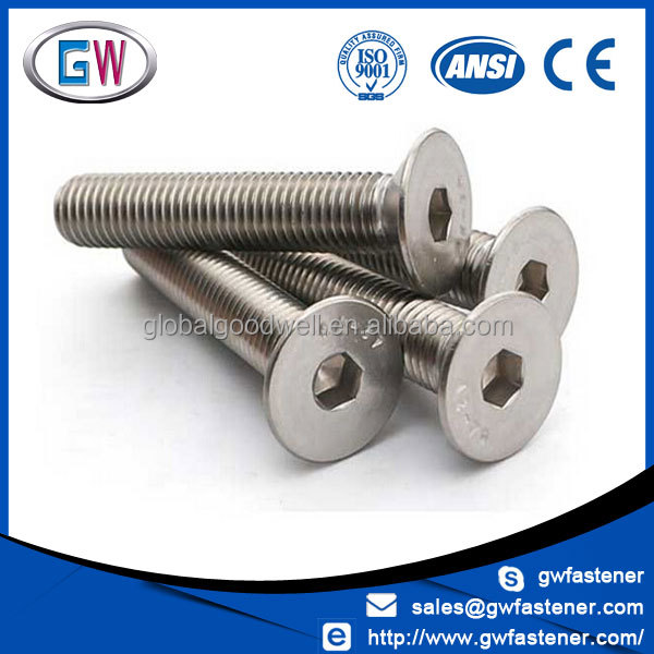 din7991 m12 m10 m8 m6 m5 m3 hex socket flat head screw