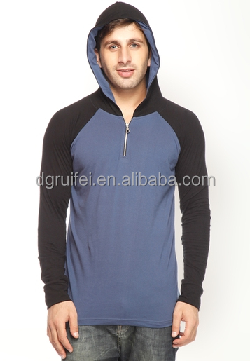 2014 new plain half zip fleece pullover hoodie wholesale for men
