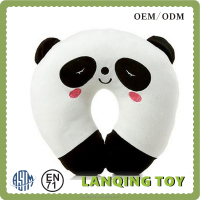 lovely panda shape plush car pillow