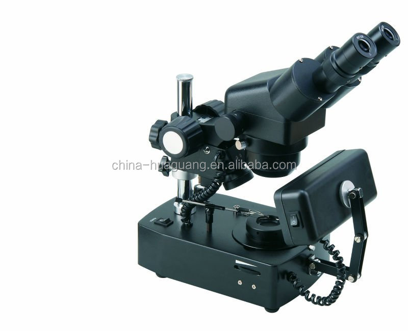 ZTX-E-ZB 20X-80X Diamond/Jewelry Microscope with Darkfield Attachment, Square Light and Tweezer, CE, ROHS,darkfield microscope