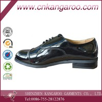 men's formal wear and army officers patent genuine leather shoes