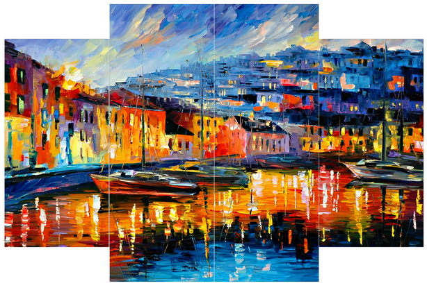 Elegant and natural view led canvas oil painting for home decor