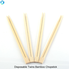 Wholesale Bulk Personalized 21cm Japanese Biodegradable Disposable Twins Sushi Bamboo Chopsticks with Customized