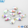 teardrop water shape two hloes ab color resin material stone