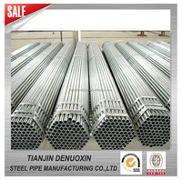 q235b galvanized steel porn tube from tianjin denuoxin