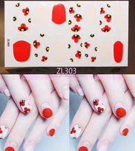 Hotsale new design ZL nail art sticker, nail decal popular in Korea