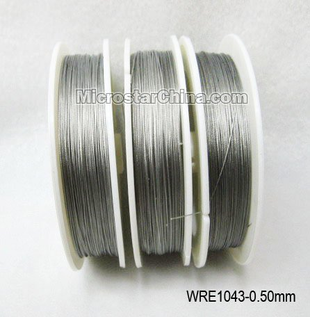 0.5mm silver tone tiger tail steel wire for jewelry making