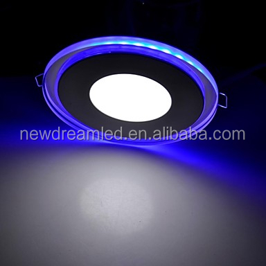 15W round multicolor led ceiling panel 2015 newest type with blue light