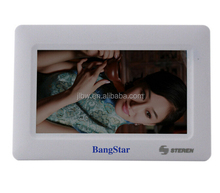 Lithium Battery Power Digital Photo Frame,USB style,printing logo,promotionalgift