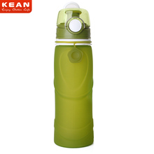 Promotion 750ML Silicone BPA Free Water Bottle, Squeeze Sports Water Bottle