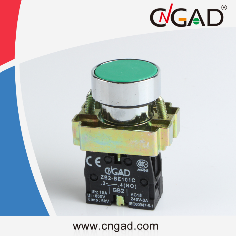 XB2-BA31 CNGAD green momentary flush push button switch