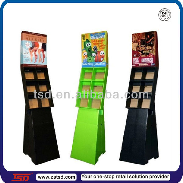 TSD-C760 custom cardboard brochure holders,cardboard book display box,cardboard magazine display stand
