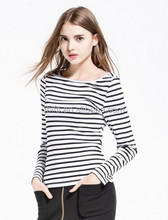 slim women stripe style t shirt /underwear
